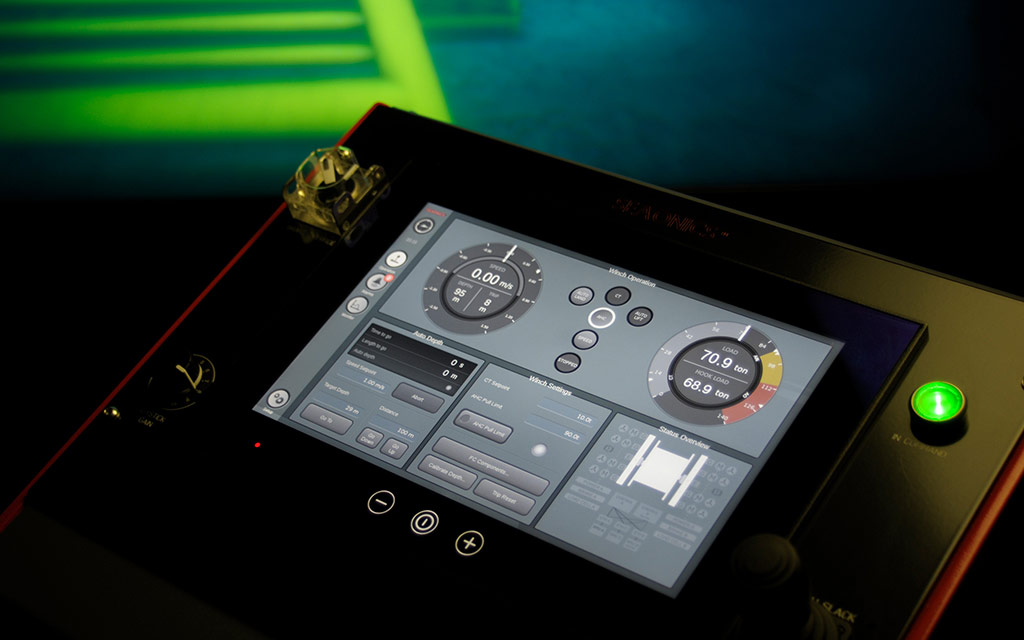 Picture of an HMI designed by CDP Studio IDE