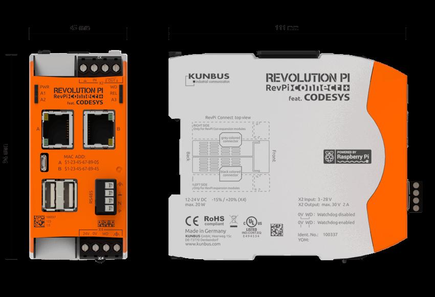 RevPi Connect+ 尺寸