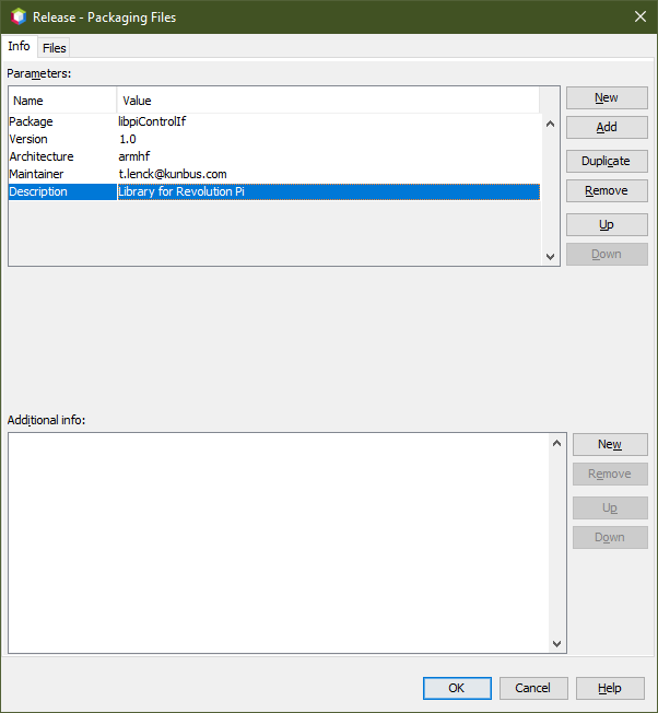 Screenshot of Netbeans Packaging options showing where to setup the package name, etc.
